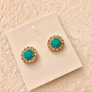 NWT Kate Spade Crystal Halo & Stone Stud Earrings